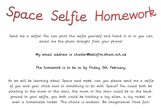 Space Selfie Homework