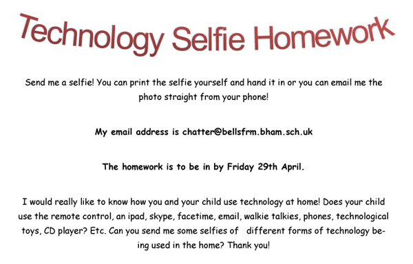 Technology Selfie Homework copy