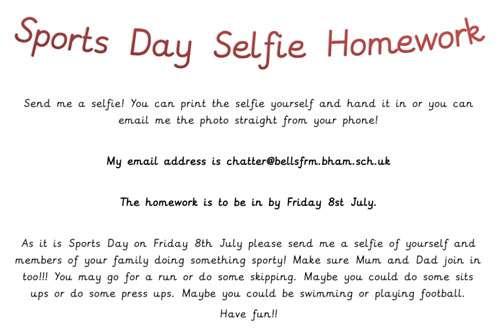 Sports-Day-Selfie-Homework